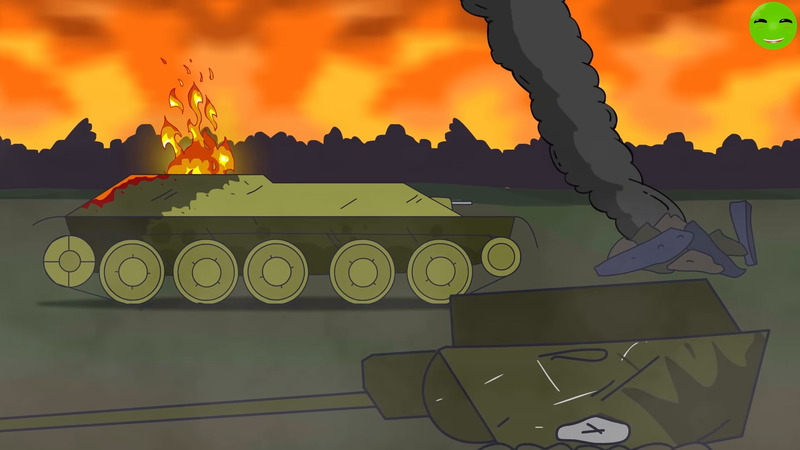 All series Battle for the village Cartoons about tanks