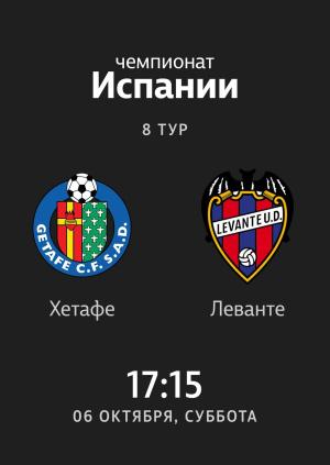8 тур: Хетафе - Леванте 0:1. Обзор матча